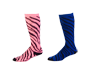 8090AP Pizzazz Zebra Stripe Knee High Sock