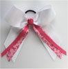 BC280 Awareness Hair Bow with streamers