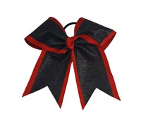 "Pizzazz HB525-GL 3"" Dual Layer Glitter Bow"