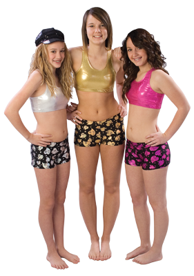 5300CH & 5400CH Pizzazz Cheer Heart Hot Short - Click Image to Close