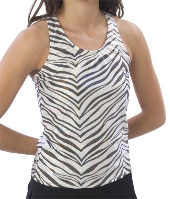 9300ZG and 9400ZG Pizzazz Zebra Glitter Racer Back Top - Click Image to Close
