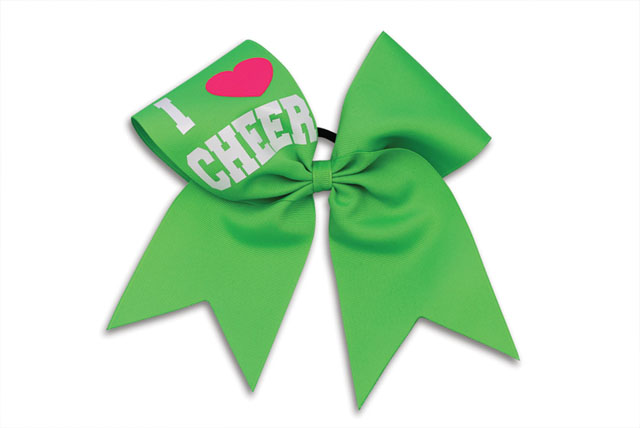 HB800 I Love Cheer Bow - Click Image to Close